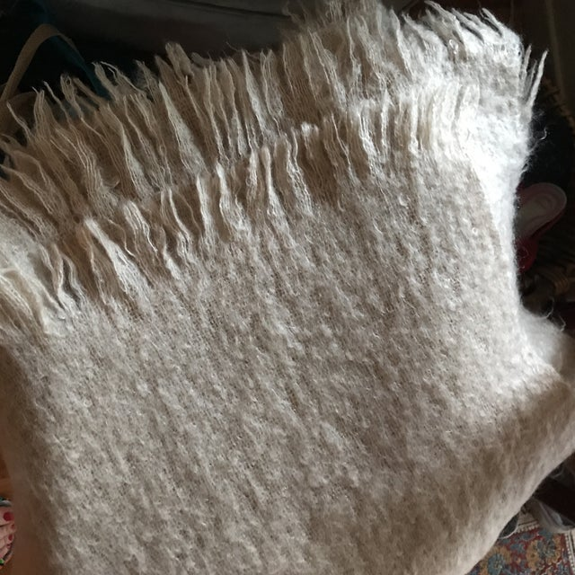 Australian Mohair Fringed Throw - Image 3 of 9