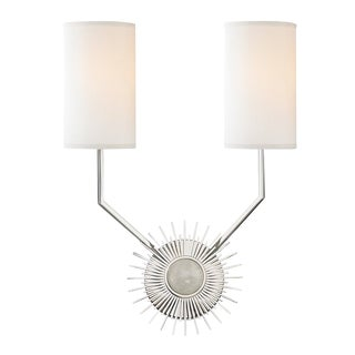Borland 2 Light Wall Sconce - Polished Nickel For Sale