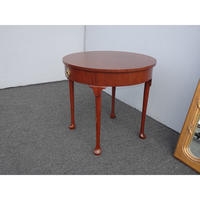 Vintage French Country Side Table Mahogany Color by Baker Furniture Co. For Sale - Image 10 of 13