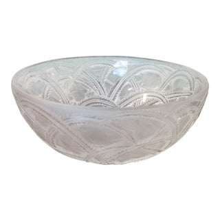 French Lalique Crystal Bowl For Sale