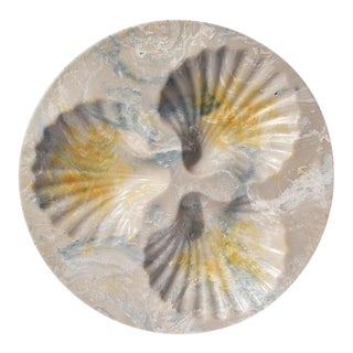 Round Resin Stone Seashell Decorative Dish For Sale