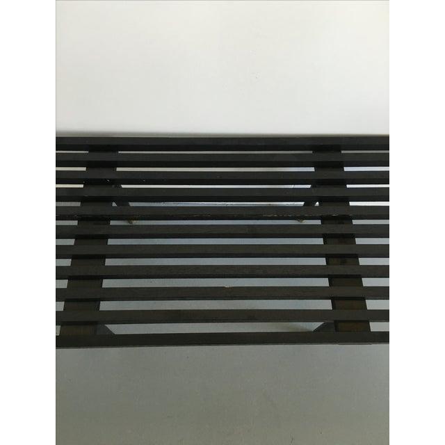 Vintage Wood Slat Bench Herman Miller Style - Image 4 of 6