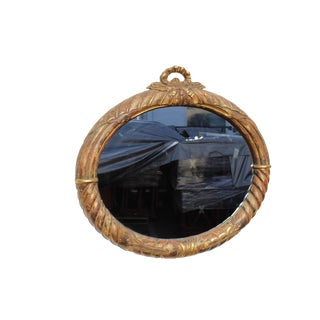 20 Century French Style Gilt Oval Mirror For Sale