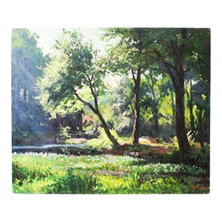 Caddell Spring Forest Painting by Foster Caddell For Sale