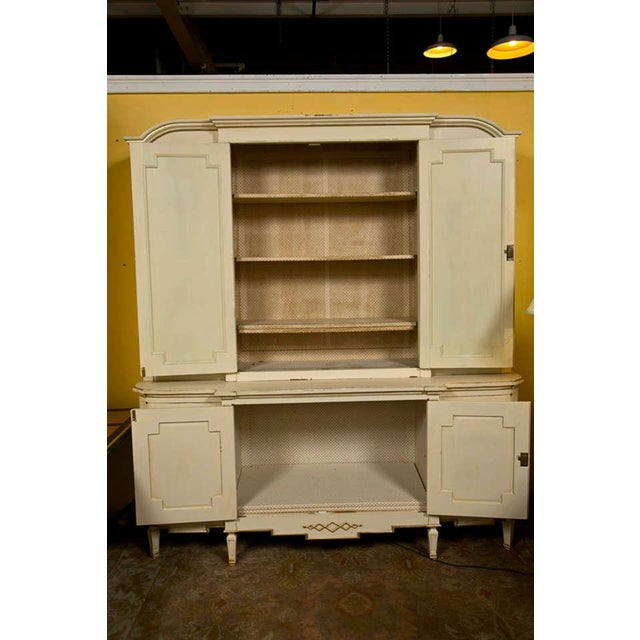 Maison Jansen Ivory Painted Bookcase - Image 6 of 10