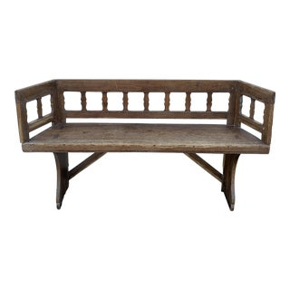 19th Century Swedish Pine Bench For Sale