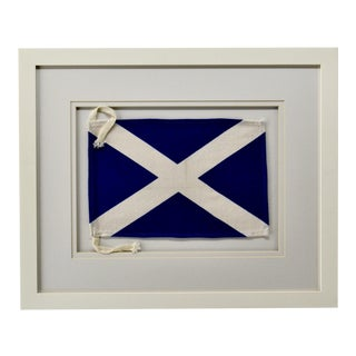 Framed Signal Flag Letter M For Sale