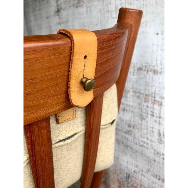 Mid-Century Modern Hans Wegner for Tarm Stole Rocking Chair For Sale - Image 3 of 4