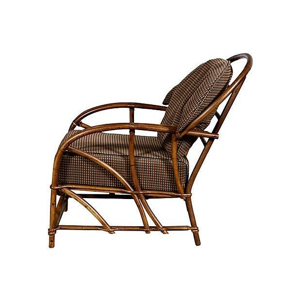 1950's Rattan Lounge Chair - Image 3 of 5