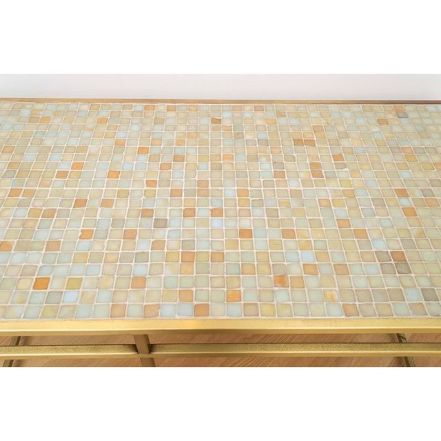 Brass Tile-Top Console Table For Sale - Image 5 of 8