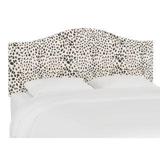 Queen Headboard, Washed Cheetah Cream Grey For Sale