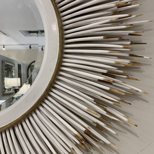 Hollywood Regency Faux Porcupine Mirror For Sale - Image 11 of 13