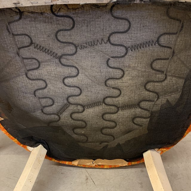 Vintage French Style Barrel Back Chairs- a Pair For Sale - Image 12 of 13