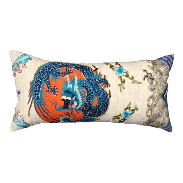Chinese Emperor's Opera Robe Dragon Pillow - Image 1 of 8