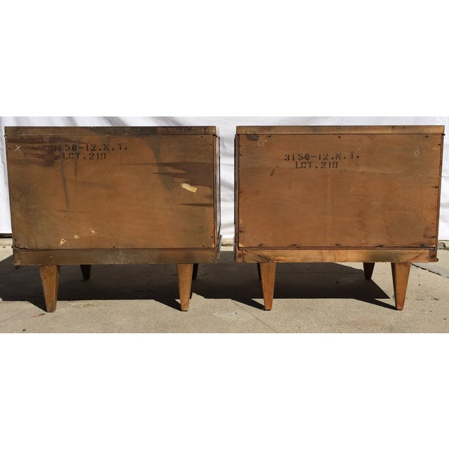American Martinsville Mid-Century Side Tables Pair - Image 7 of 11