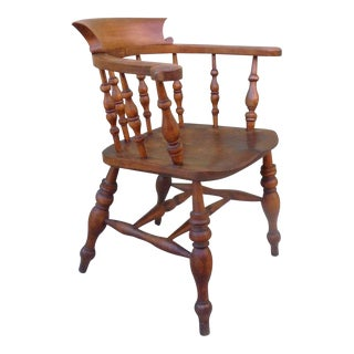 19th c. English Pub Chair with Exceptional Untouched Surface For Sale