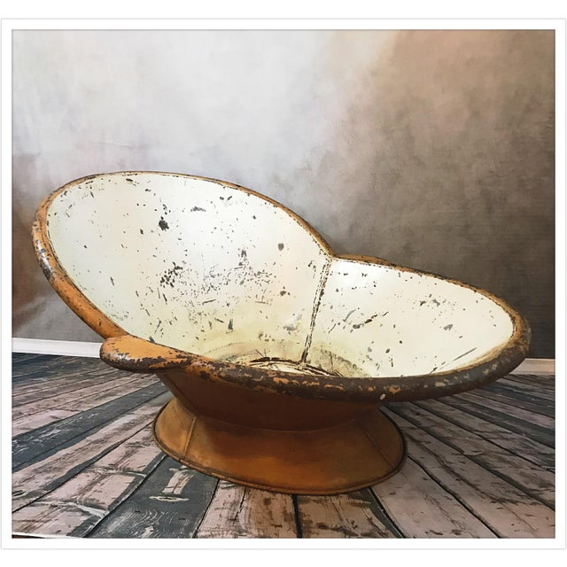 Antique French Zinc Bathtub For Sale - Image 4 of 11