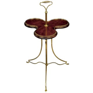 English Revolving Confection Server In Brass and Mahogany For Sale