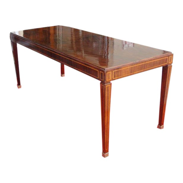 Jacques Adnet Table in Palisandro Veneer For Sale