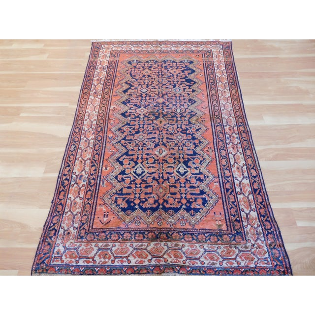 This is a hand knotted, hand made Persian Malayer, this rug has semi pattern with hand spun wool, all natural colors....