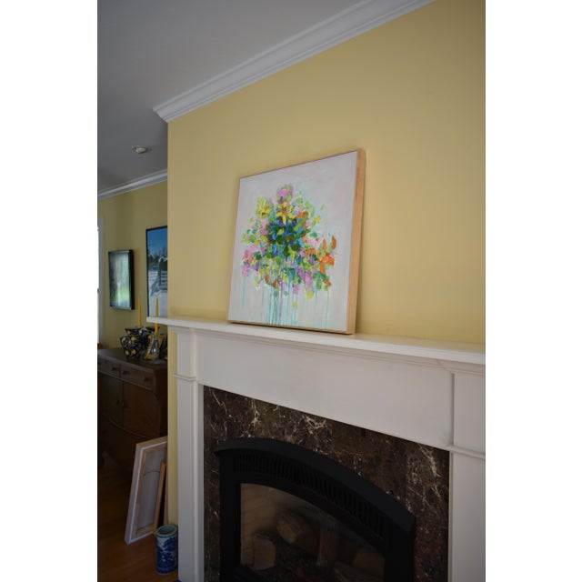 """Blue """"Bouquet. Out of Many, One"""", Contemporary Abstract Painting by Stephen Remick For Sale - Image 8 of 11"""
