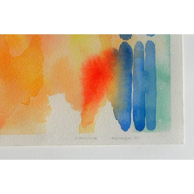 Fred Mitchell American 1923-2013 Morning 9 x 12 in. Watercolor drawing. Signed and titled on the lower right. Framed Fred...