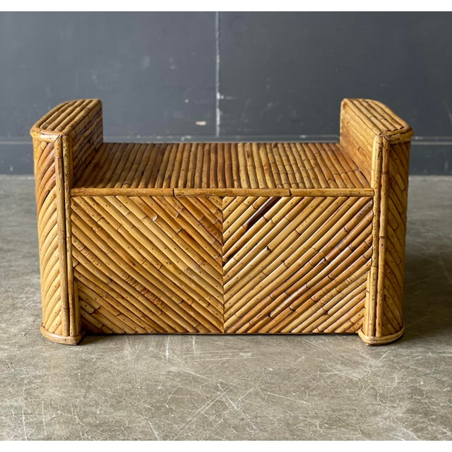 Wood Outrageous Vintage Bamboo Club Chair and Ottoman For Sale - Image 7 of 12
