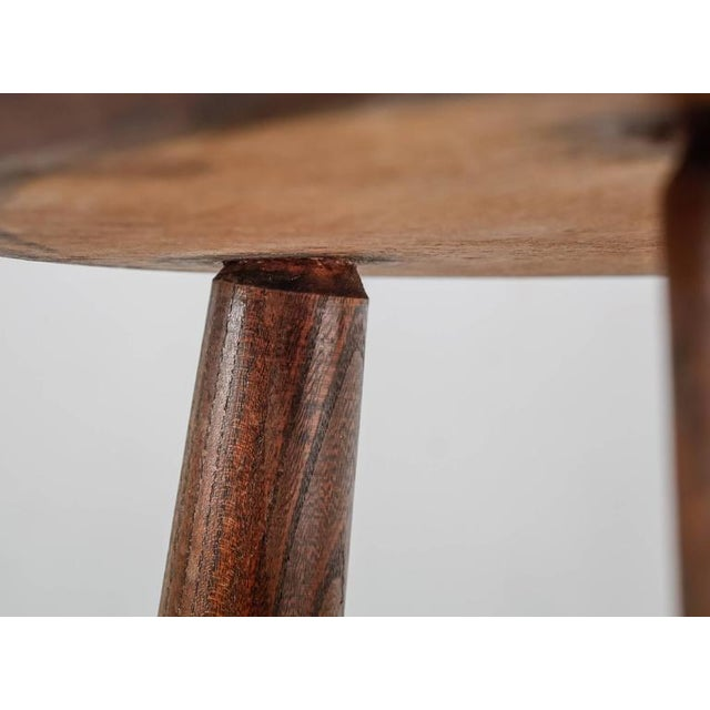 Tan French Campagne Style Wood and Rope Tripod Stool, 1950s For Sale - Image 8 of 8