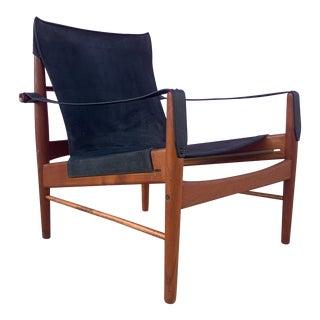"Mid-Century Modern Mid Century Danish Modern ""Antelope"" Safari Chair For Sale"