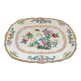 "Large Antique English Minton Chinoiserie 20"" Platter For Sale"