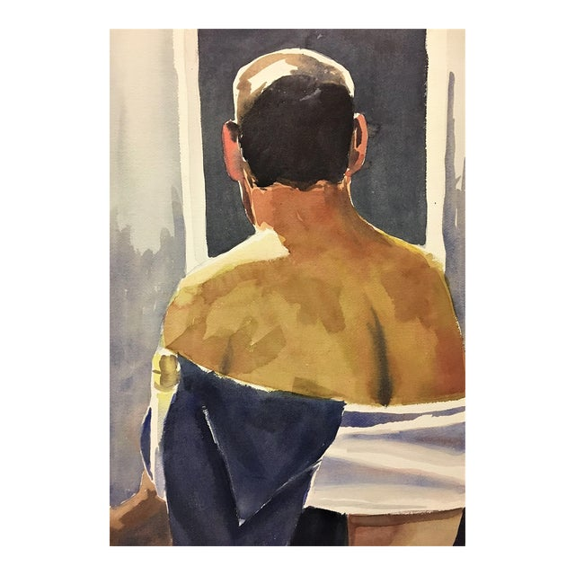 Male Nude Watercolor Study - Image 1 of 4