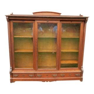 Mid-19th Century Victorian Oak Display Bookcase