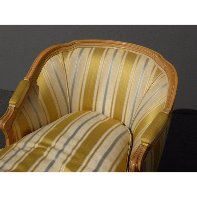 Vintage Baker French Provincial Gold Chaise Lounge Goose Down Cushion For Sale In Los Angeles - Image 6 of 11