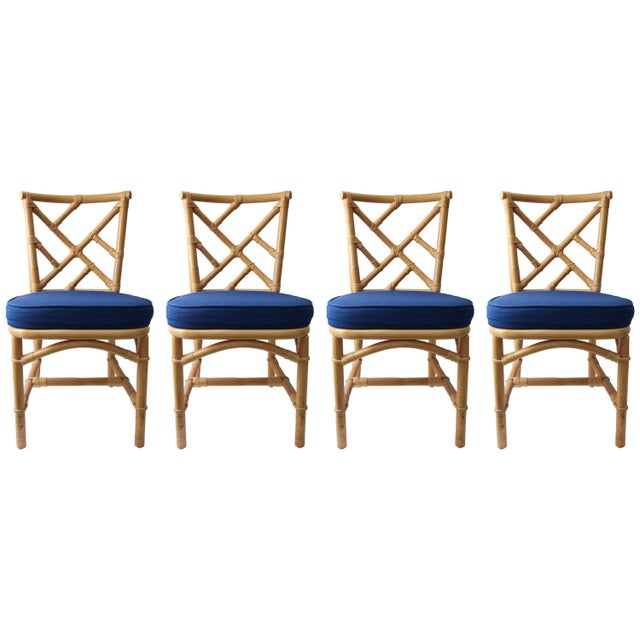 Set of Four Bamboo Side Chairs For Sale - Image 13 of 13
