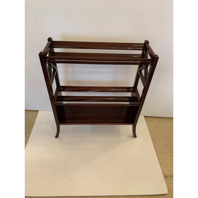 19th Century Mahogany & Satinwood Book Trough Shelving Unit For Sale - Image 13 of 13