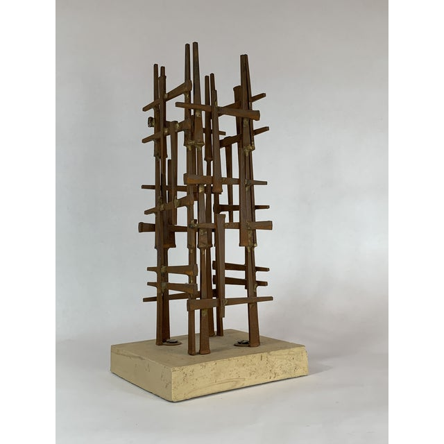 Abstract Steel Nail Sculpture by David Grossman For Sale - Image 4 of 8