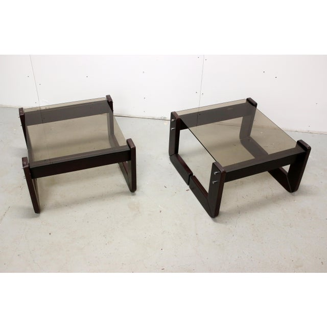 Asian Vintage Brazilian Percival Lafer Jacaranda Rosewood Side Tables - a Pair For Sale - Image 3 of 12