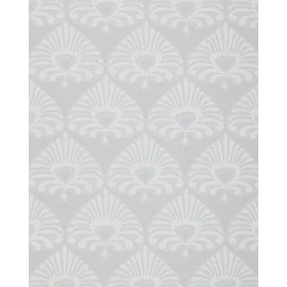 New Double Roll Serena & Lily Palmetto Bone / Grey Wallpaper - 3 Available For Sale