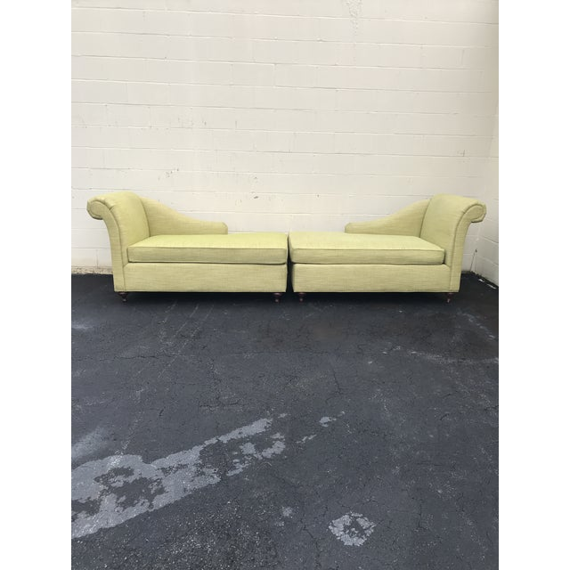 Mid Century Modern Bright Green Canvas Fainting Chairs - a Pair For Sale - Image 9 of 9