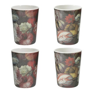 Antwerp Floral Tumblers - Set of 4 For Sale