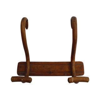 1930s Antique French Bentwood Coat Rack For Sale