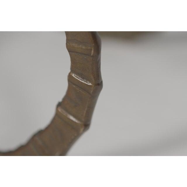Alain Chervet 1960s Vintage Cast Brass Ibex Ram Head Table Bases - A Pair For Sale - Image 4 of 7