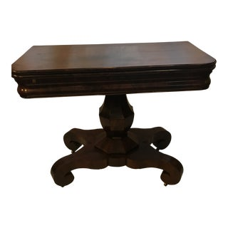 19th Century Empire Mahogany Game Table For Sale