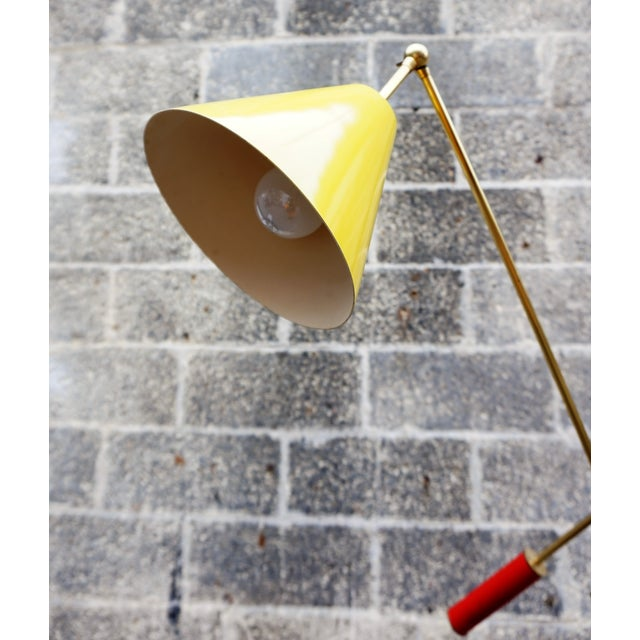 Brass Angelo Lelli for Arredoluce Triennale Floor Lamp For Sale - Image 7 of 11