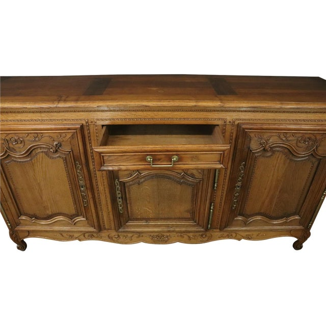 Item #: 20-25 Overall measurements (inches) 41.25H x 80W x 20.50D . Overall Condition is Used - Good. Wood separation on...