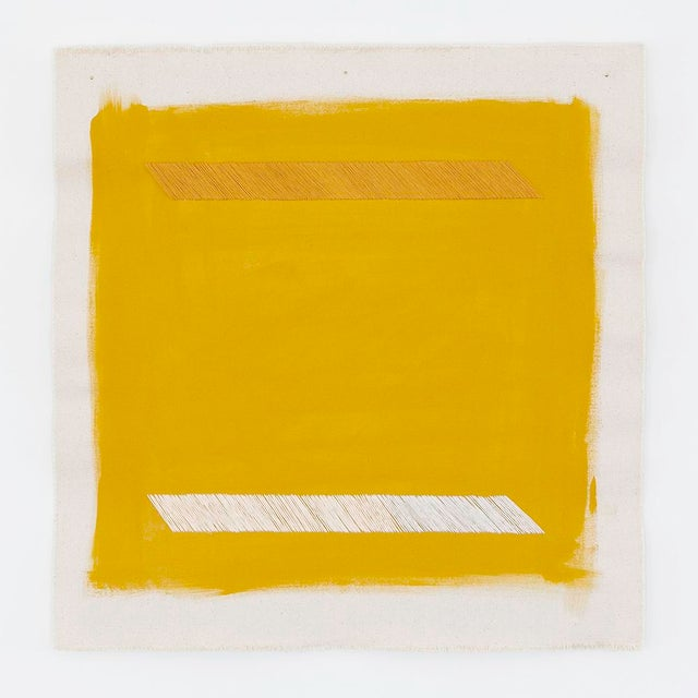 """Mustard Yellow Abstract 16"""" Fine Art Print by Emily Keating Snyder For Sale"""
