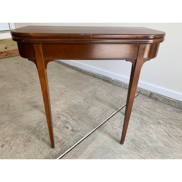 Antique Mutual Furniture Co. Flip Top Mahogany Card Table For Sale - Image 12 of 12