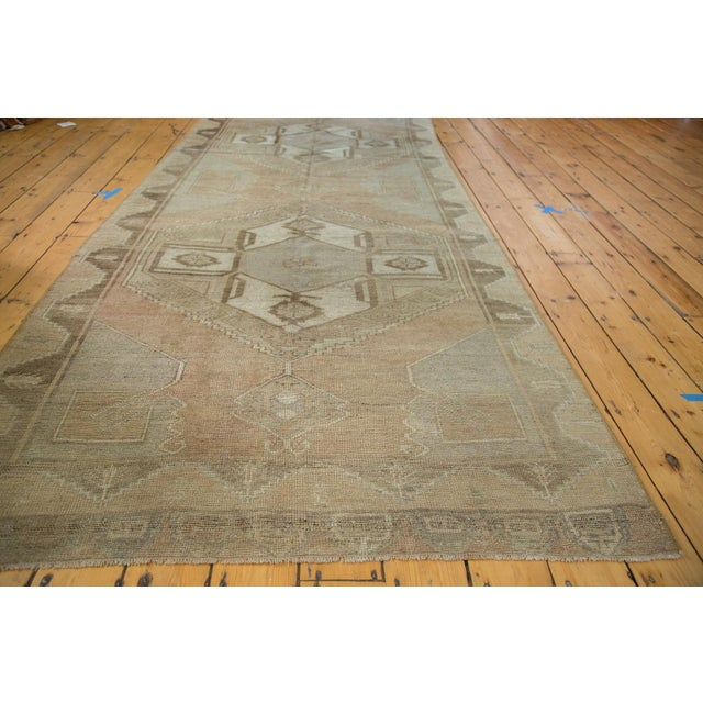 "1970s Distressed Oushak Runner - 4'7"" X 10'8"" For Sale - Image 5 of 8"