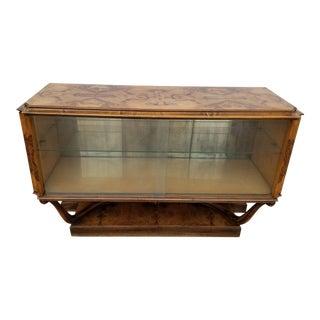 Italian Pier Luigi Colli for Fratelli Burl Wood Drinks Bar Cabinet For Sale