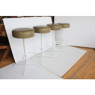Mid-Century Reupholstered Bar Stools - Set of 4 Preview